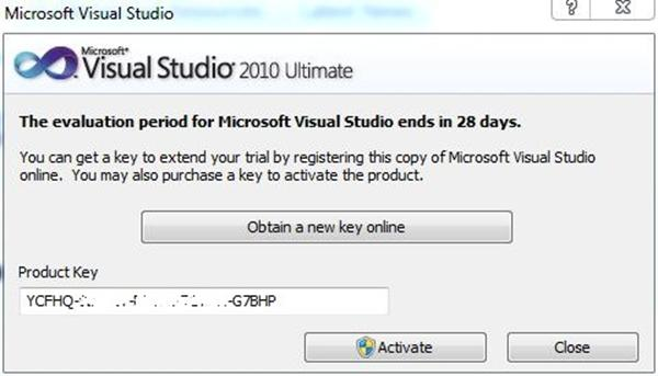 Buying a Visual Studio 2010 product key or extending the Visual Studio