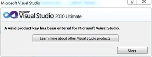 product key for microsoft visual studio 2010 ultimate